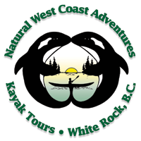 Natural West Coast Adventures Kayak Fishing Logo